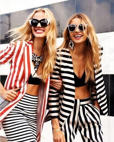 Как да носим: Хоризонтално черно-бяло райе
