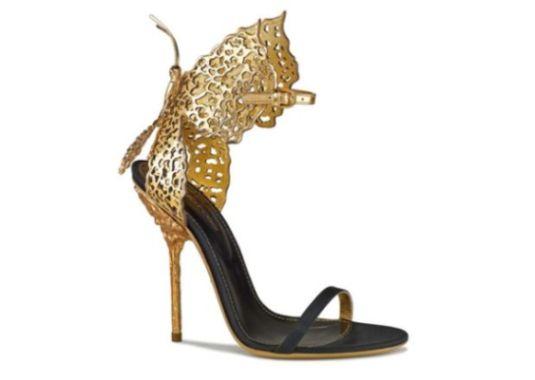 Обувки, изящни като златни пеперуди