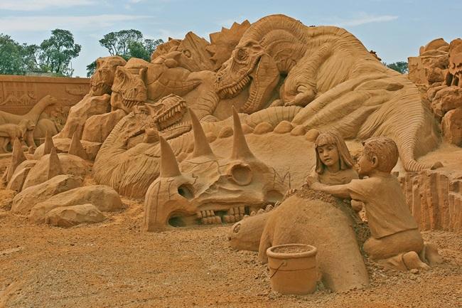 Шедьоври на изкуството, създадени от пясък