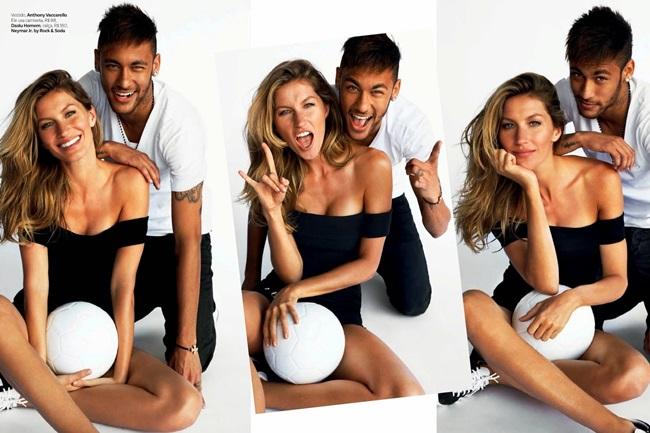 <!--:bg-->Vogue също е футбол! Жизел и Неймар на корица<!--:-->
