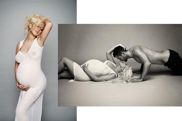 <!--:bg-->Бременната Кристина Агилера като Деми Мур през 1991 година<!--:-->