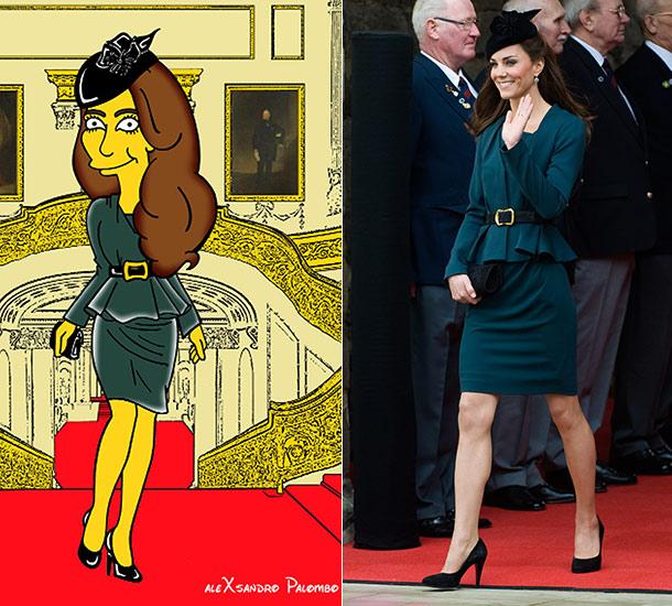 """<!--:bg-->Как изглежда Кейт Мидълтън като героиня от """"Семейство Симпсън""""?<!--:-->"""