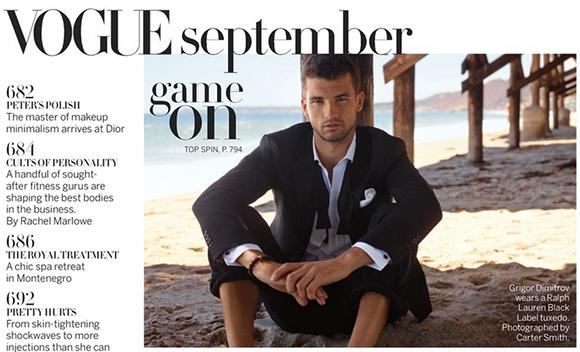 <!--:bg-->Григор Димитров – най-доброто от българския тенис на страниците на Vogue<!--:-->