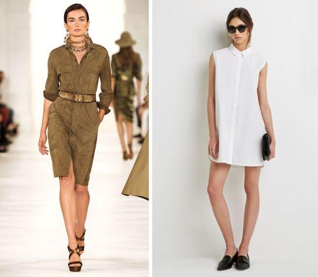Роклята-риза или ризата-рокля? Наречете я както ви харесва и вижте как да я носите и тази пролет
