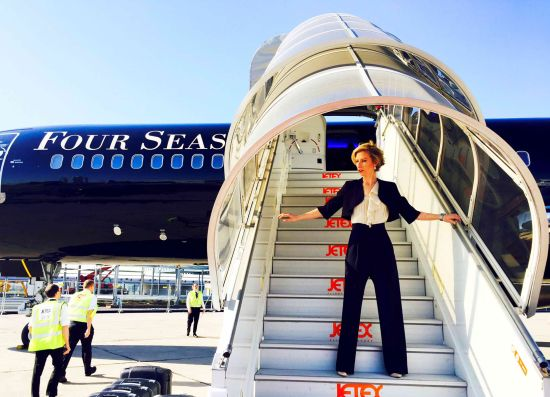 Околосветско пътешествие по небето: Four Seasons Private Jet