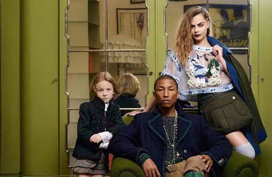 <!--:bg-->Фарел Уилямс и Кара Делевин в няколко семейни сцени за Chanel<!--:-->