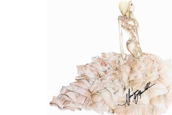 Как известни дизайнери си представят сватбената рокля на Лейди Гага?