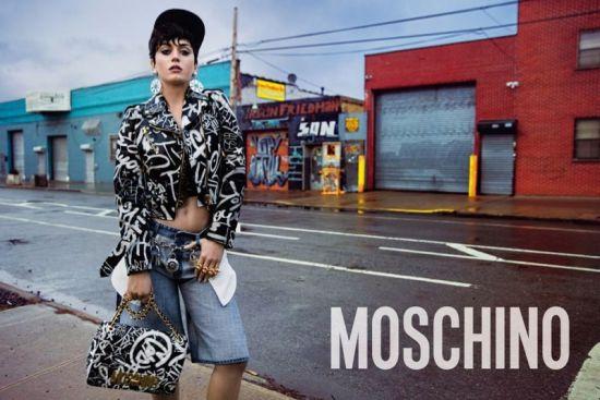 Кейти Пери като хип-хоп, диско дива за Moschino