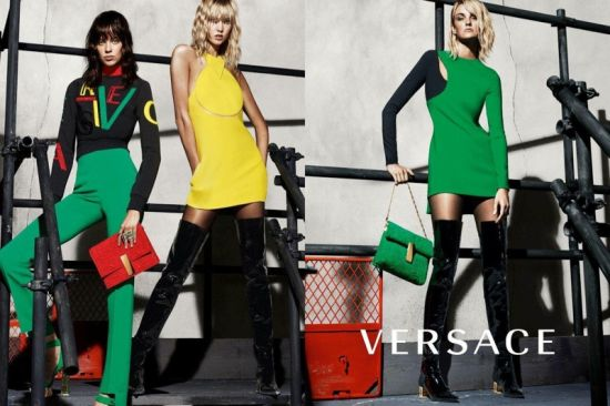 Versace с готови кадри от есенната си рекламна кампания