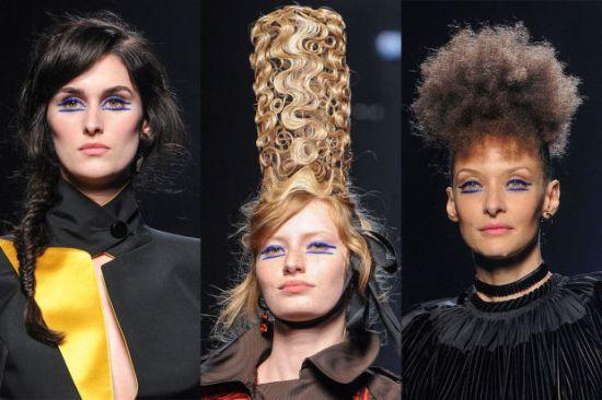 Лица, прически и доза абстрактна красота от Haute Couture