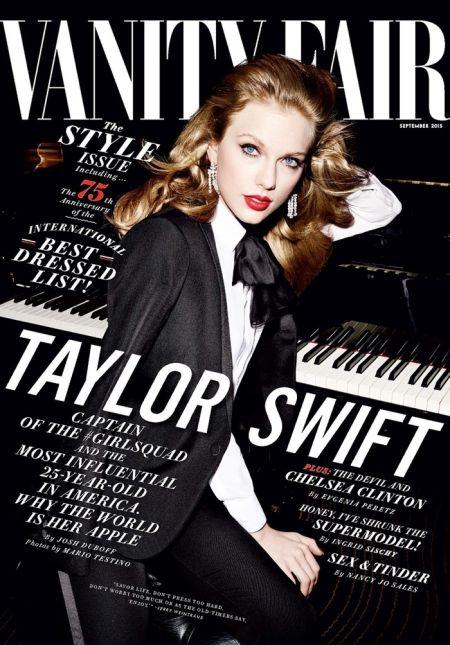Тейлър Суифт за Vanity Fair като вече пораснала жена