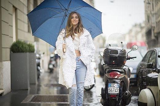 Милано: Дъждовно начало на модната седмица и street style вдъхновения