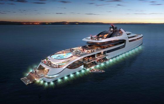 Mega-yacht-X-Force-145-Stern