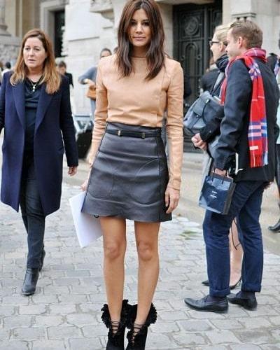 Перфектната кожена пола: 10 причини да я носите през есента