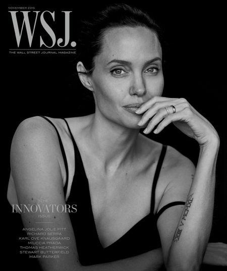 Анджелина Джоли в черно и бяло за WSJ Magazine