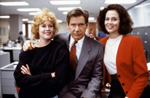 """С Мелани Грифит и Харисън Форд в """"Работещо момиче"""""""