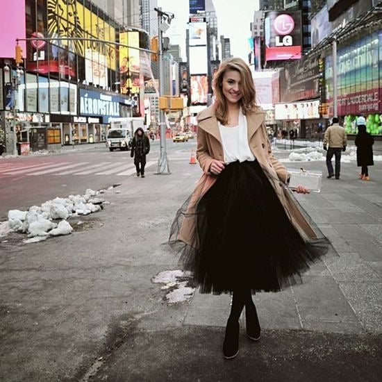 Полите от тюл и през зимата – едно (не)очаквано модно решение