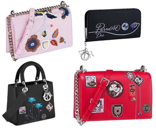 Paradise – колекция дамски чанти от Рая, както си го представят Dior