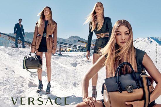 Джиджи Хадид и Versace в пролетта на 2016 година