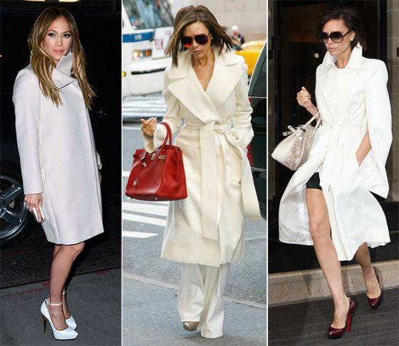 Как да носим бяло палто. Четири начина за свежо начало на зимата