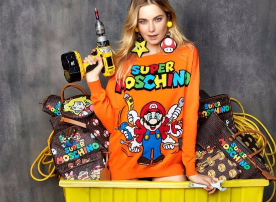 Super Mario става вдъхновение за Moschino в нова, празнична колекция