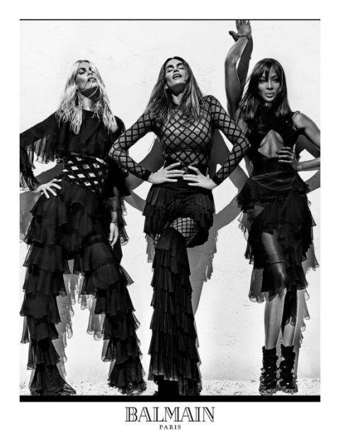 Клаудия, Синди и Наоми в новата реклама на Balmain – Всичко, от което имаме нужда днес