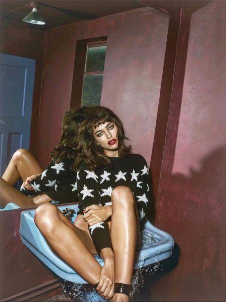 Ирина Шейк почти неузнаваема за първи път във френския Vogue