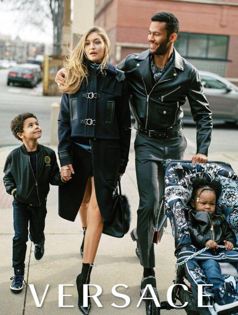 Секси мама! Джиджи Хадид е дългокрака майка в новата кампания на Versace