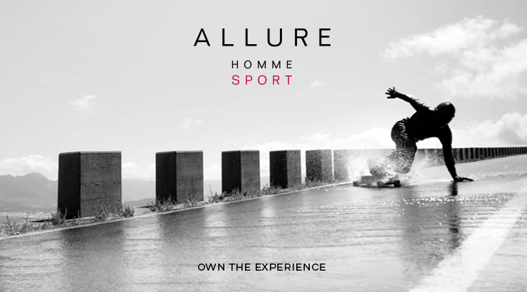 Усещане за мъж в новата кампания на Chanel Allure Homme Sport