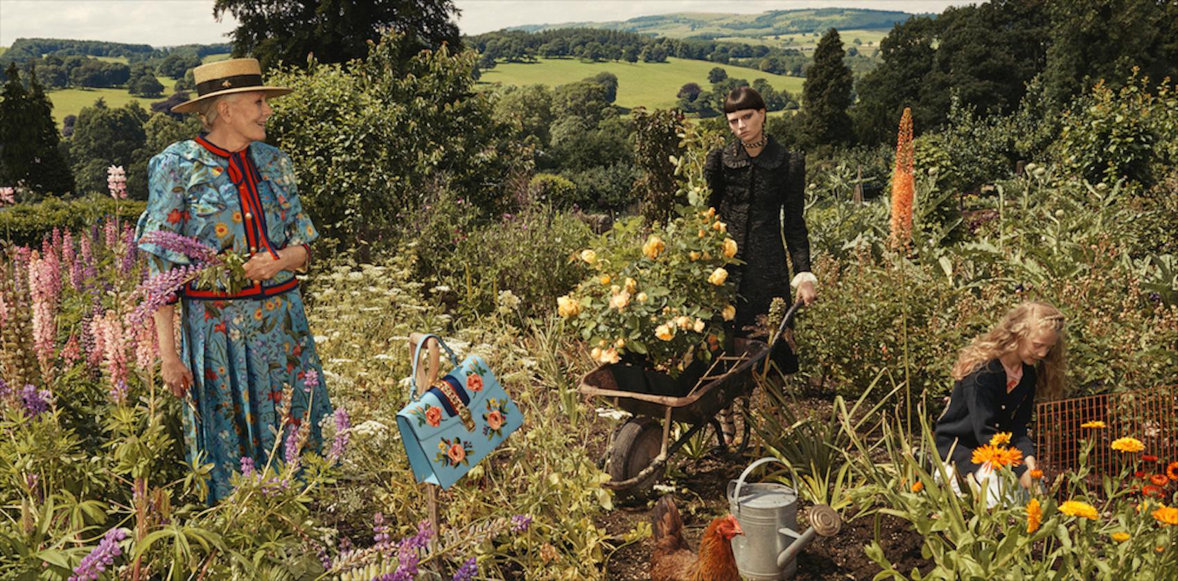 Gucci превзе британско имение за рекламната си кампания