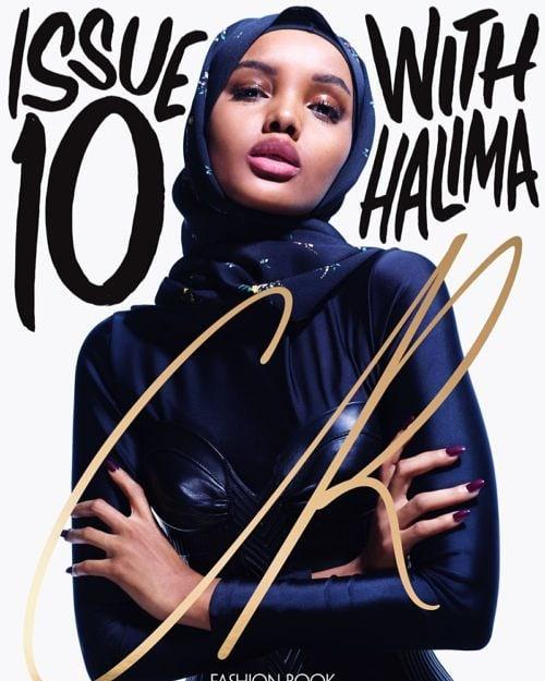 Супермодел с хиджаб и брекети?
