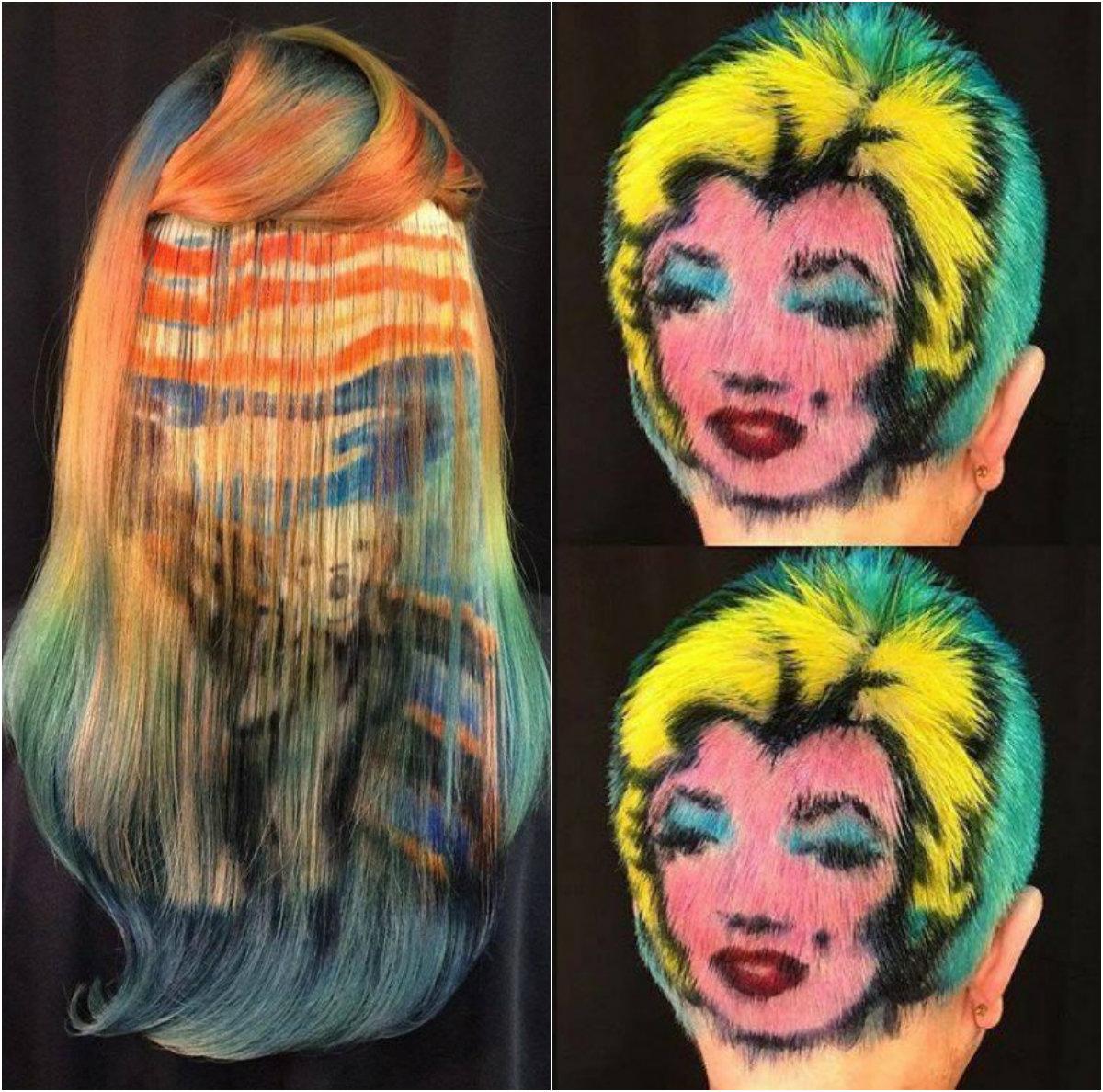 Класически картини върху косите. И това е изкуство!