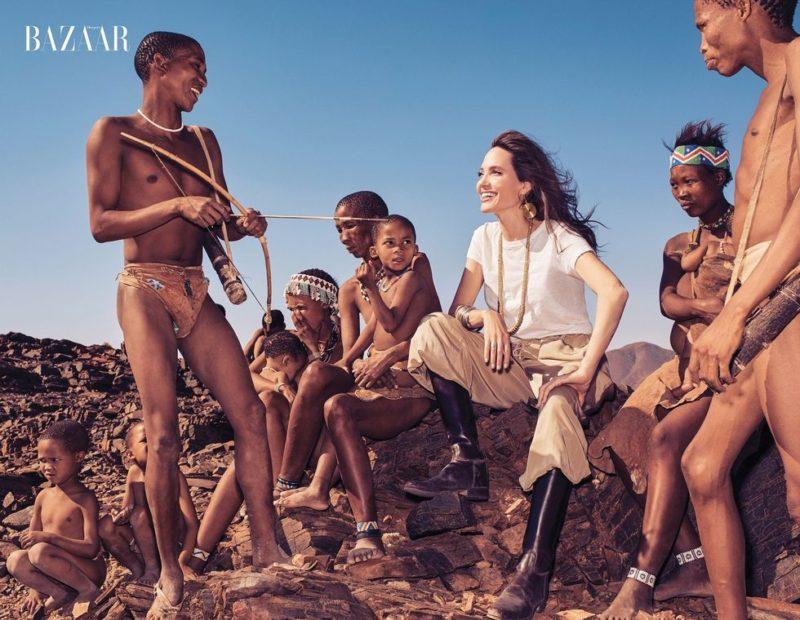 Анджелина разтваря сърцето си в Намибия