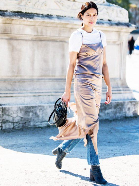 Как да носим: Рокля върху панталон