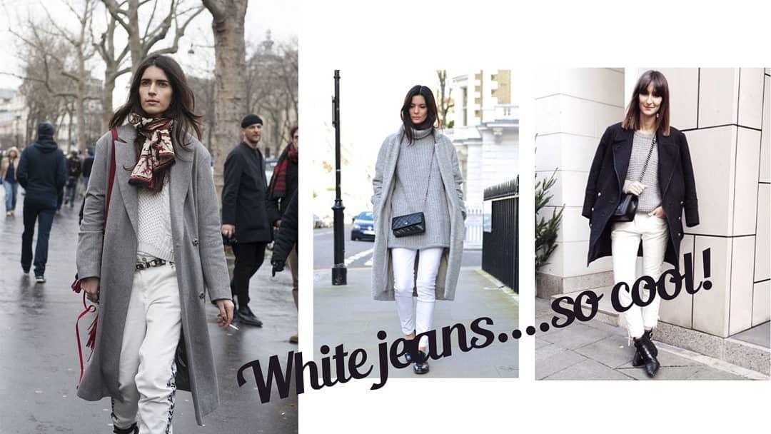 Бели джинси и през зимата, защото е просто cool!