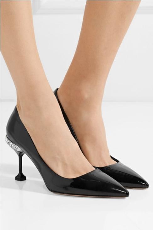 Обувки с кристали от MIU MIU