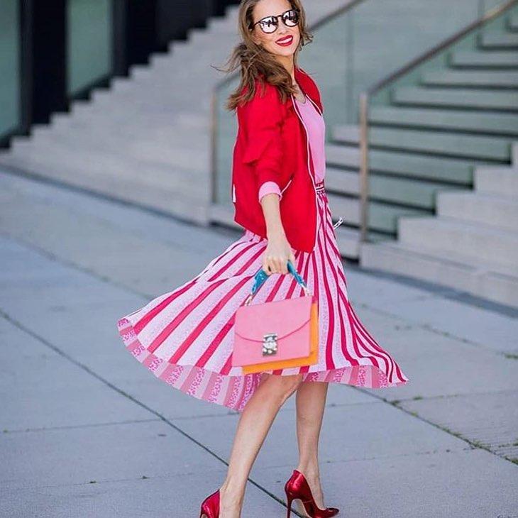 Как да носим: Розово и червено