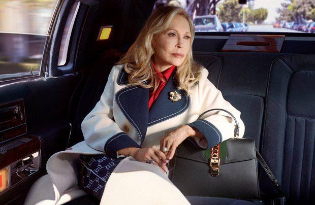 Фей Дънауей в новата кампания на Gucci