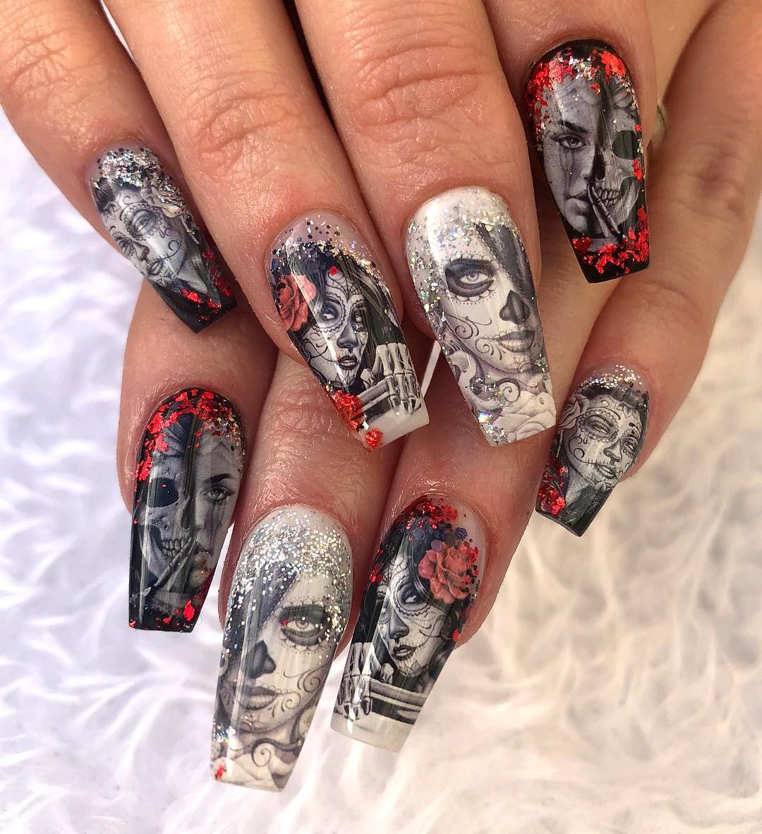 Хелоуин грим за ноктите