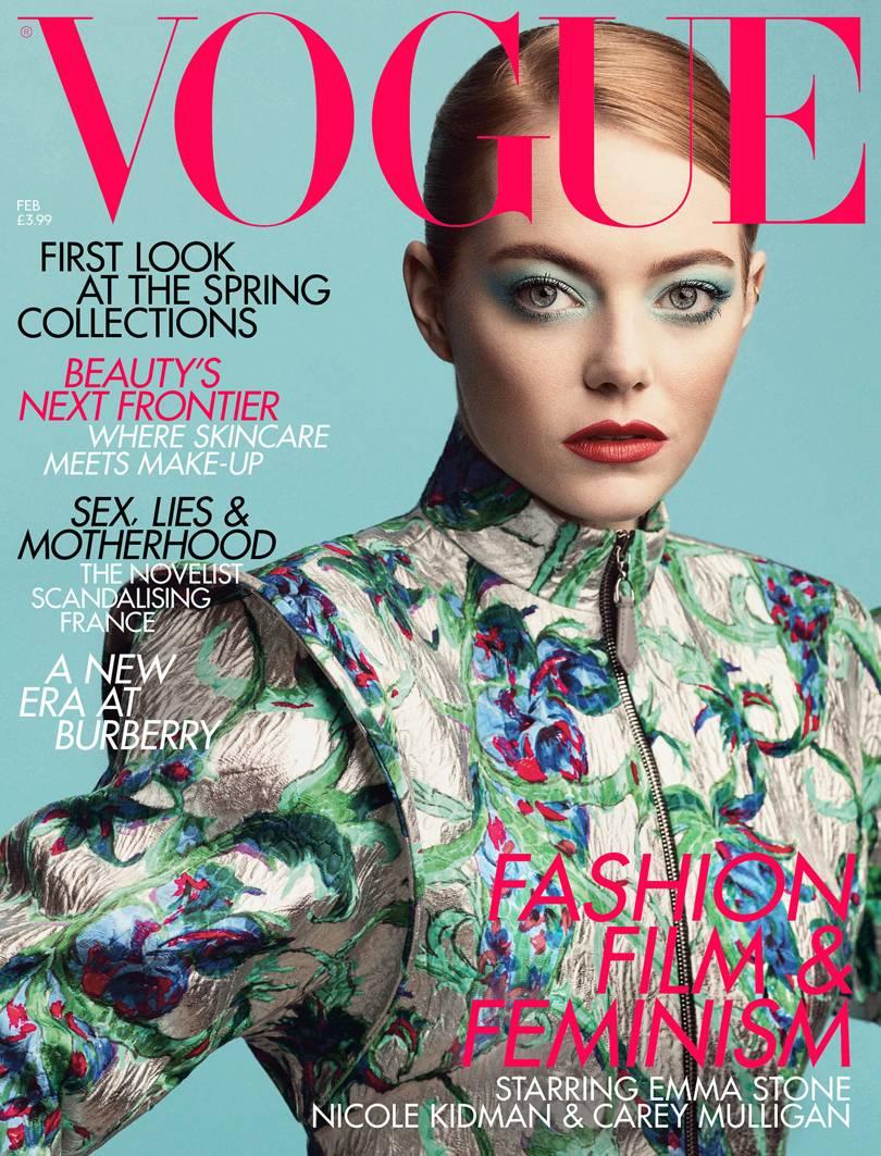 Ема Стоун сияе на корицaта на британския Vogue