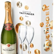 Taitinger Brut Reserva NV 750 ml с две чаши