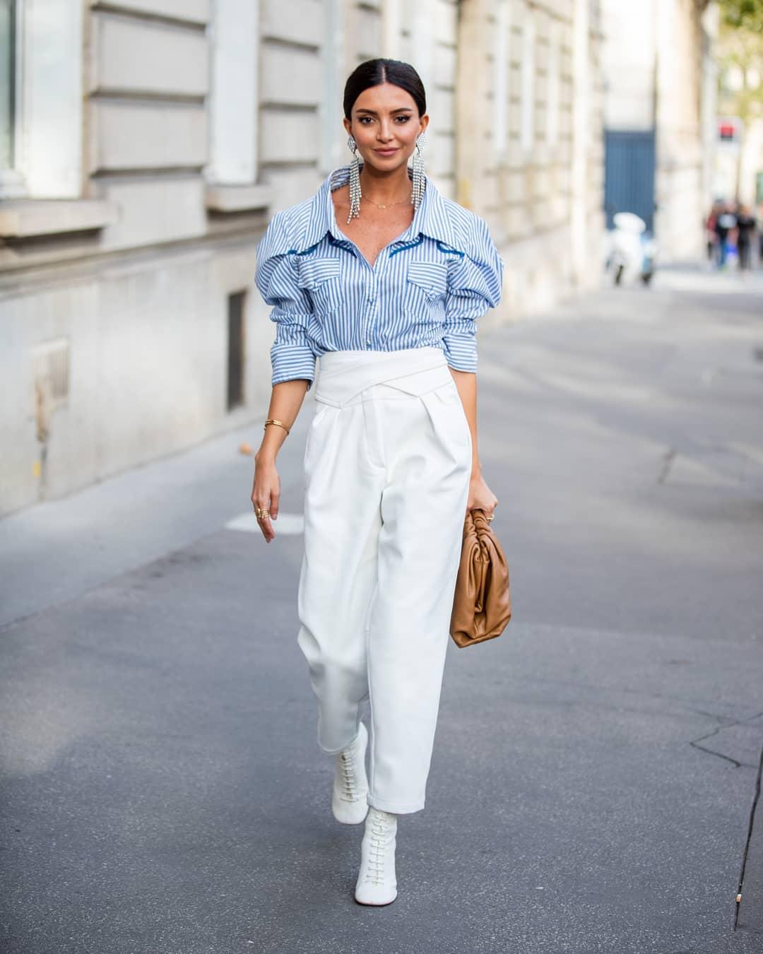 Бял и разкроен: как да носим летния must-have панталон