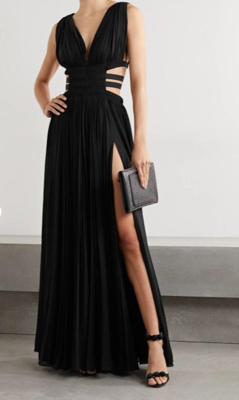 Дълга черна рокля от ALAÏA