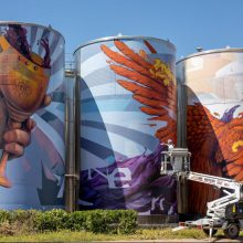 Nasimo нарисува най-големия стенопис-графит на Балканите