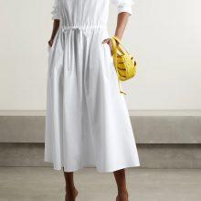 Бяла миди рокля от VALENTINO