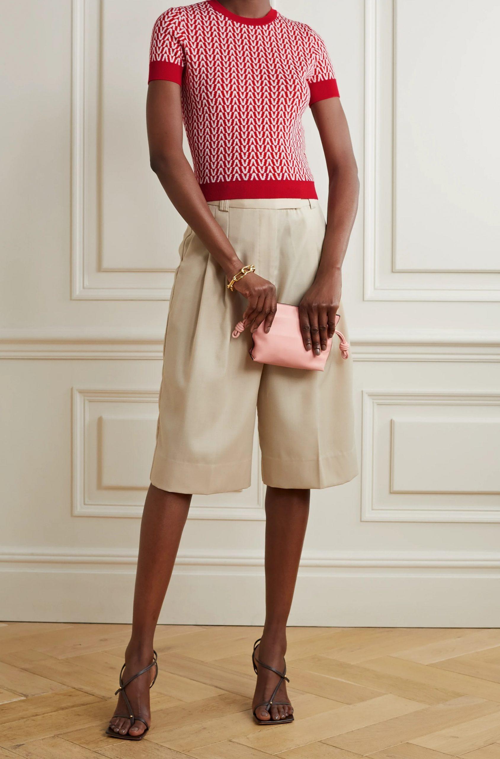 Пуловер с къс ръкав от Valentino